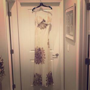 Bcbg floral long dress